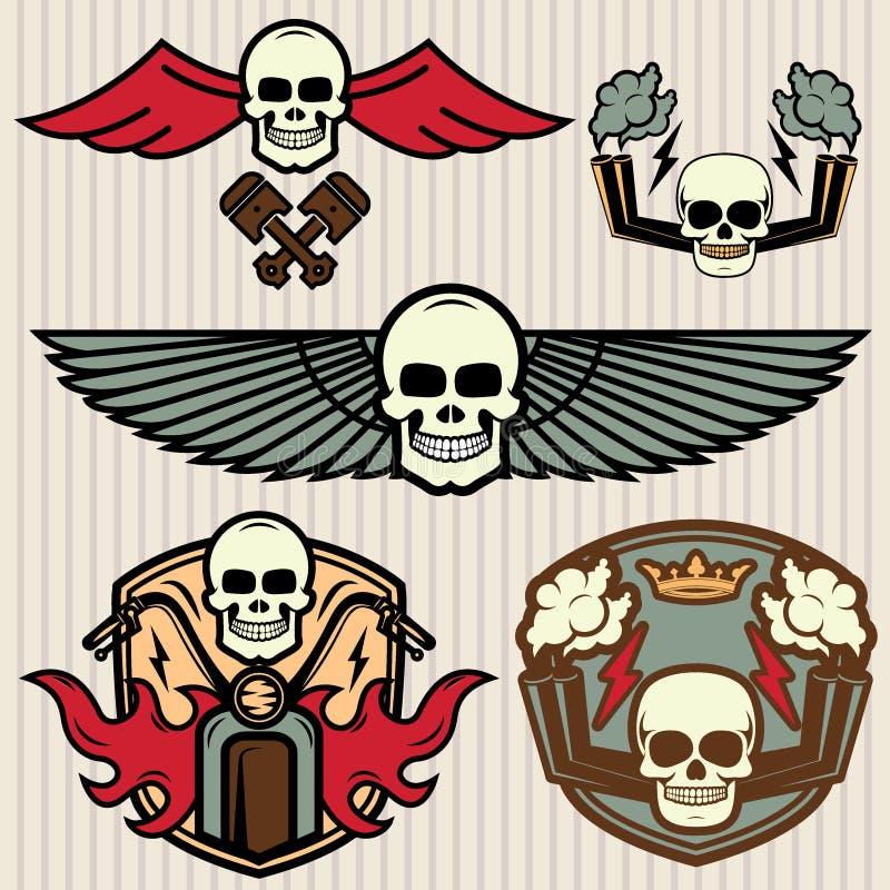 Emblemas da bicicleta ajustados ilustração do vetor