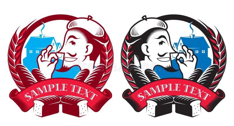 Emblemas da padaria ilustração royalty free