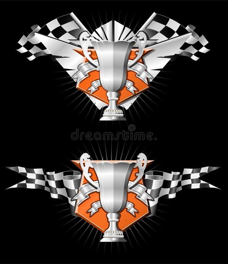 Emblemas da raça dos esportes ilustração stock