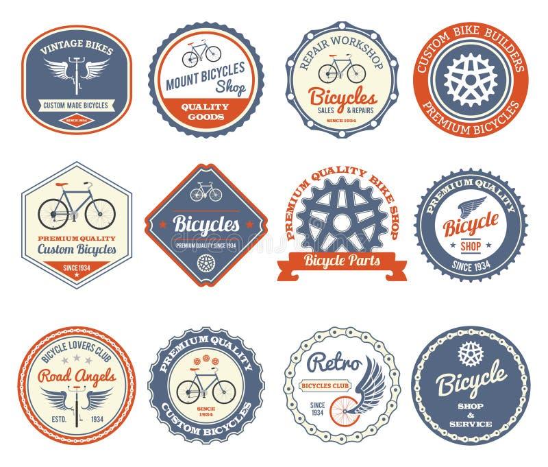 Emblemas de ciclo fijados ilustración del vector