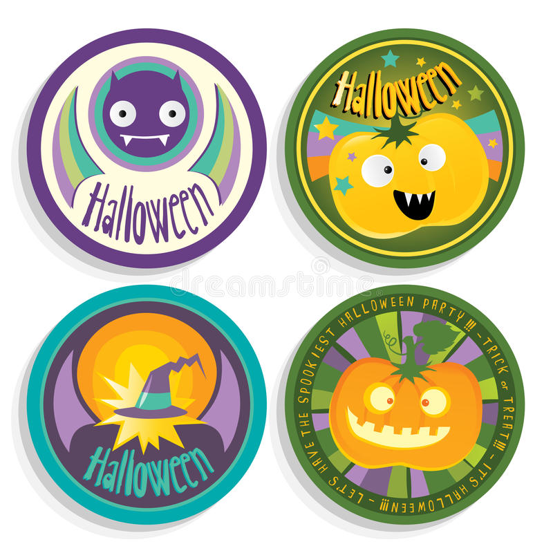 Emblemas de Halloween ilustração royalty free