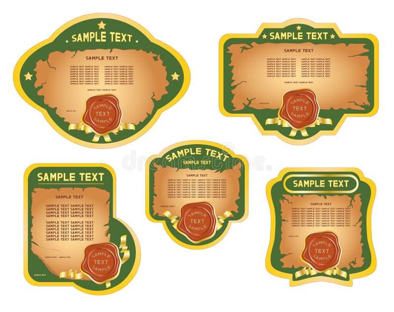 Emblemas de um retro. fotos de stock