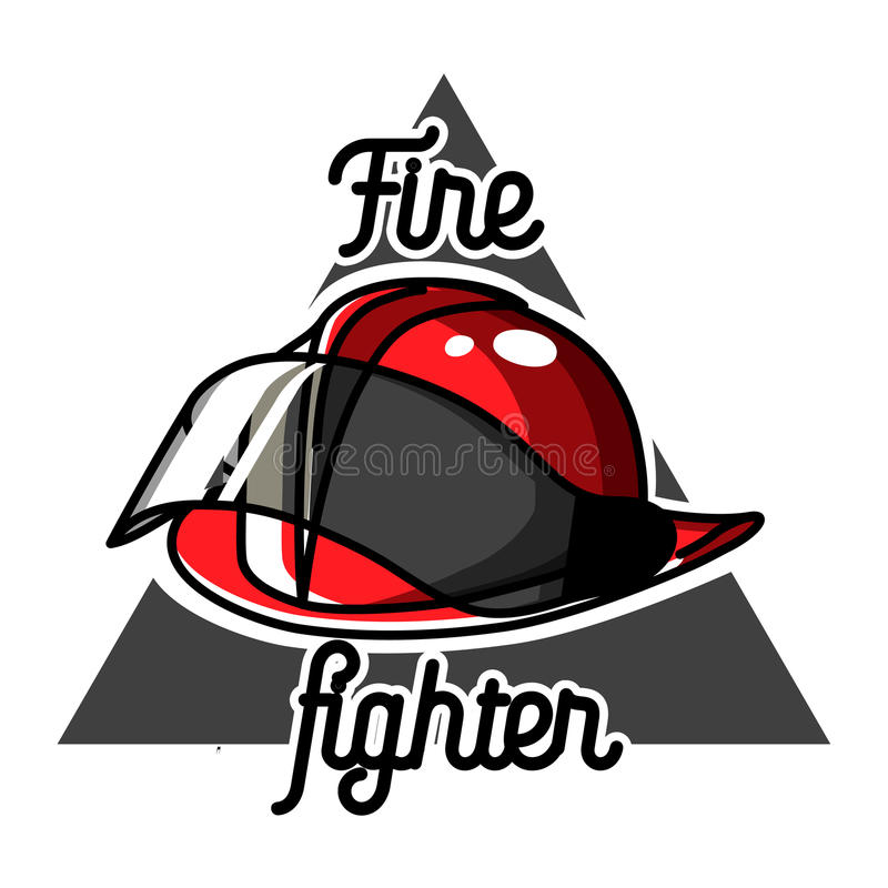 Emblemas del bombero del vintage del color ilustración del vector