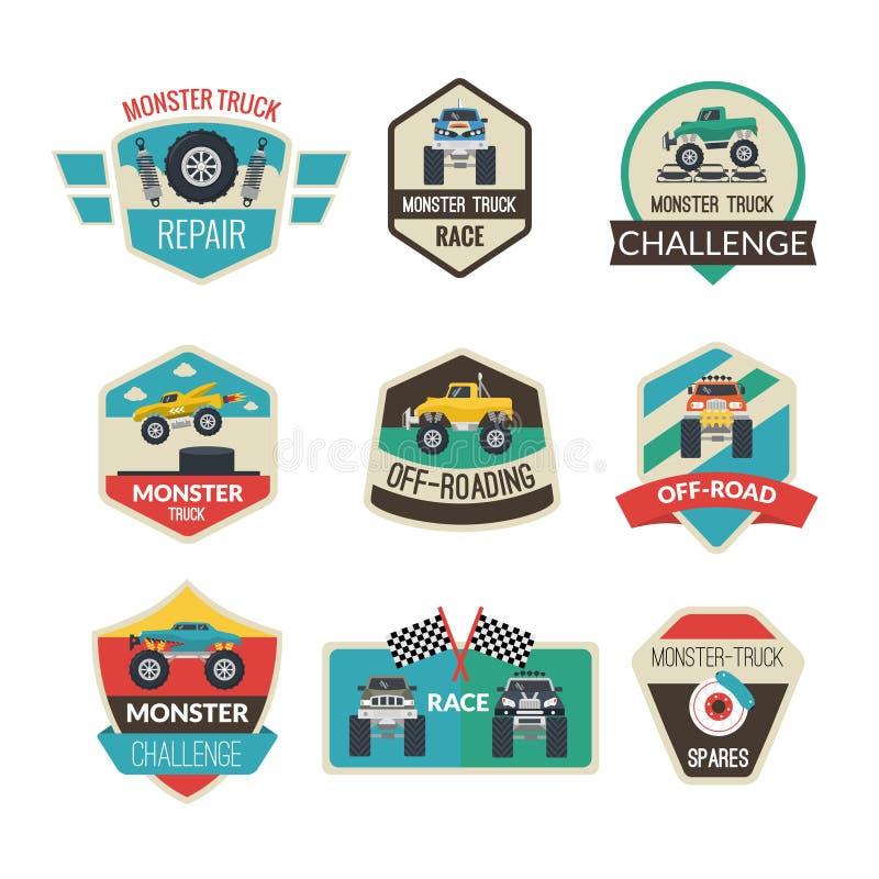 Emblemas del monster truck libre illustration