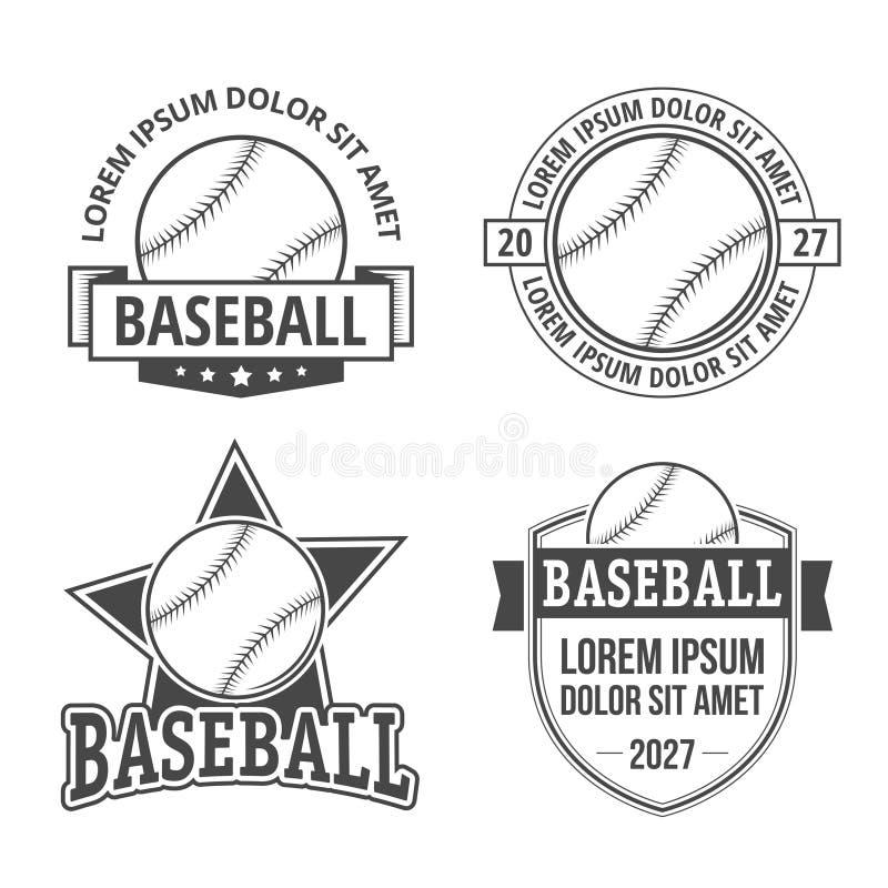 Emblemas do basebol ilustração royalty free