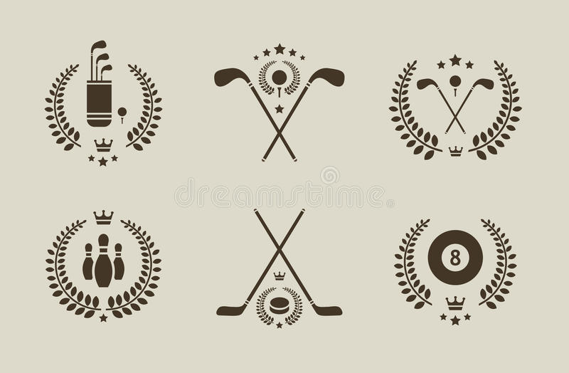 Emblemas do esporte ilustração stock