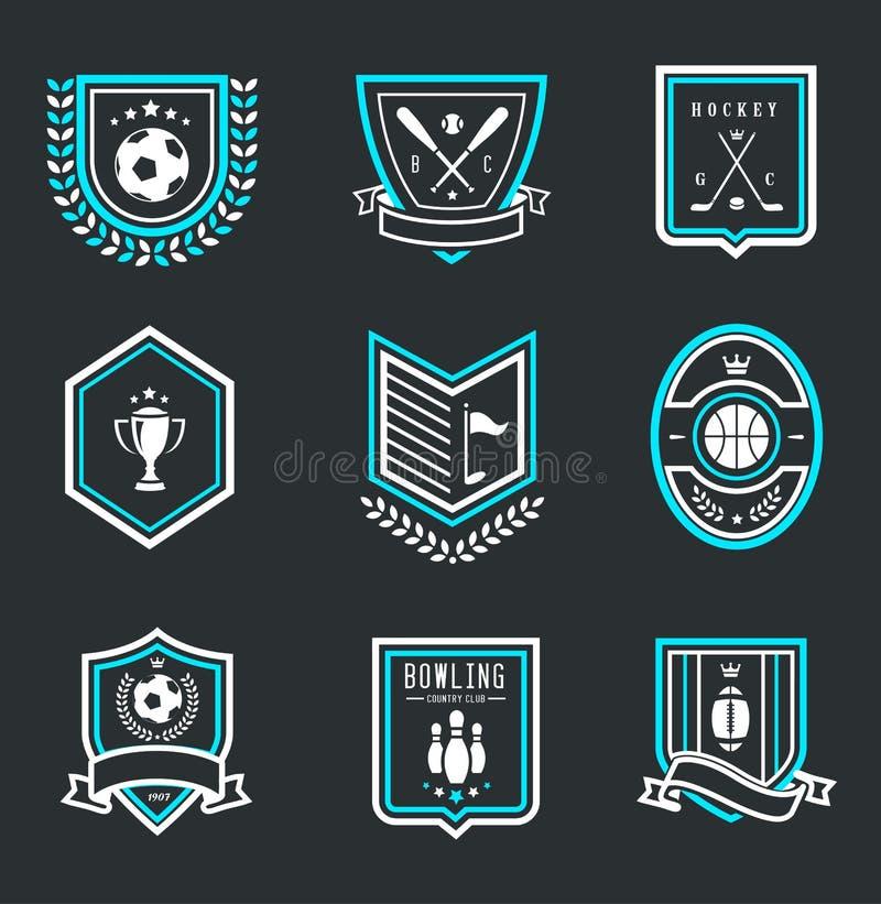 Emblemas do esporte ilustração do vetor