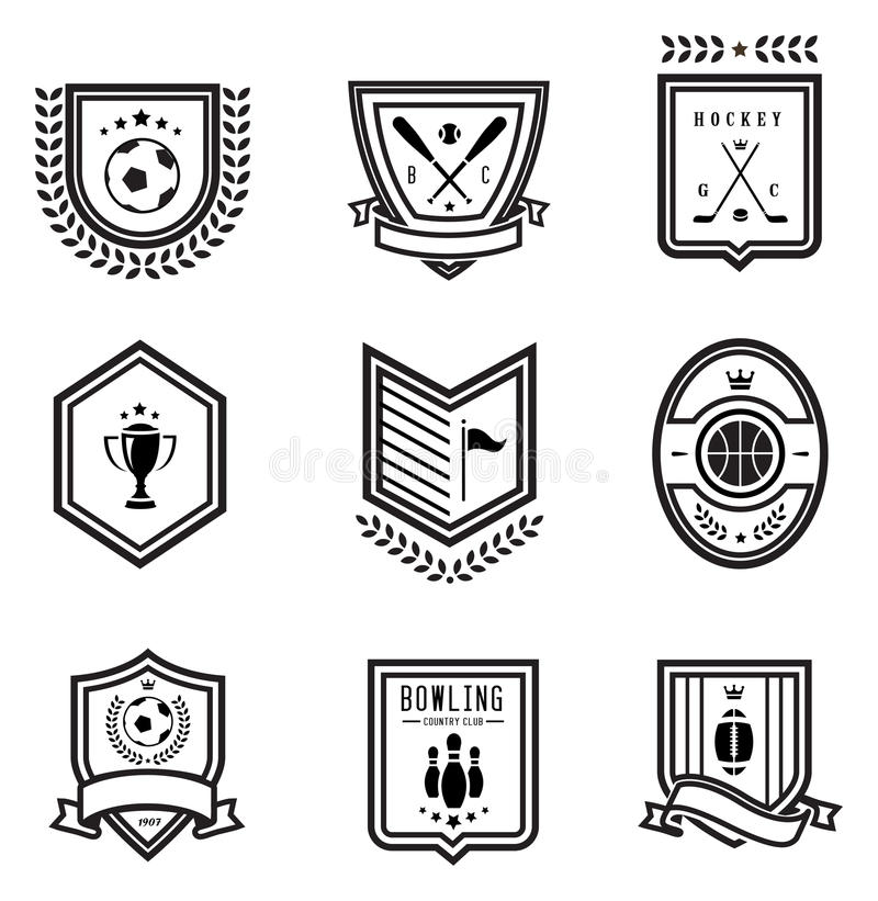 Emblemas Do Esporte Fotos de Stock