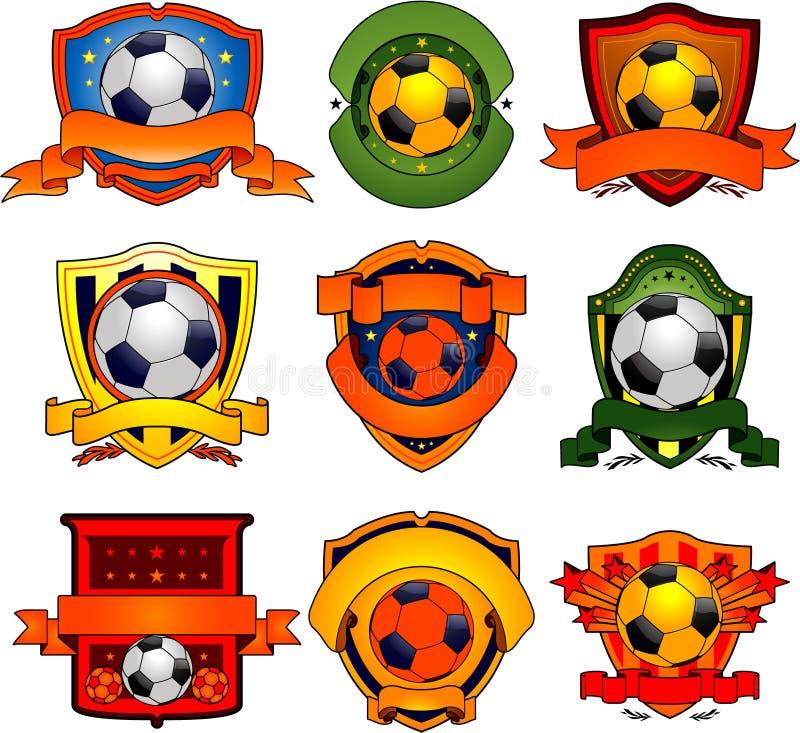 Emblemas do futebol ilustração stock