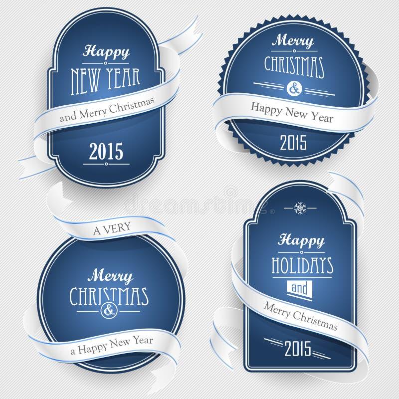 Emblemas do Natal ilustração stock