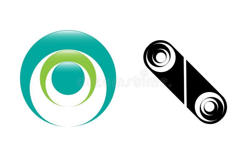 Emblemas do sumário da imagem do vetor sob a forma das formas geométricas para o uso na designação do design web e do símbolo ilustração royalty free