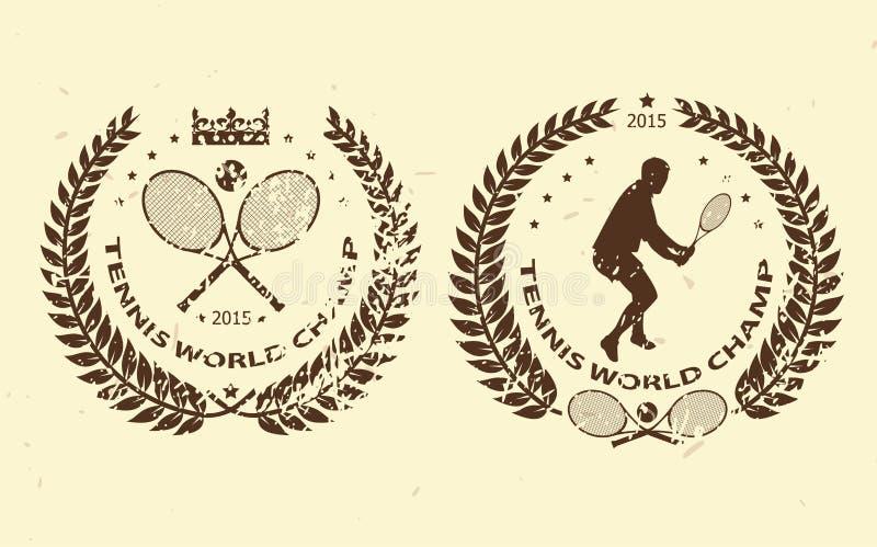Emblemas do tênis ilustração do vetor
