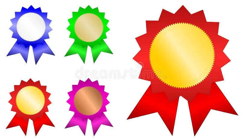 Emblemas do vencedor ilustração royalty free
