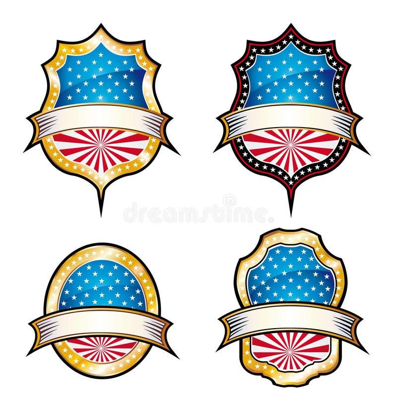 Emblemas do vintage dos EUA ilustração do vetor