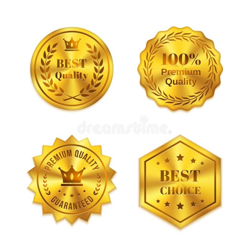 Emblemas dourados ilustração do vetor