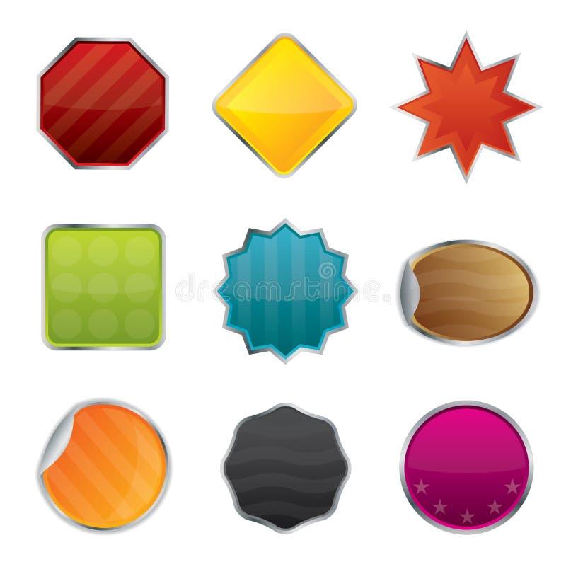 Emblemas e Tag do Web site do vetor ilustração do vetor
