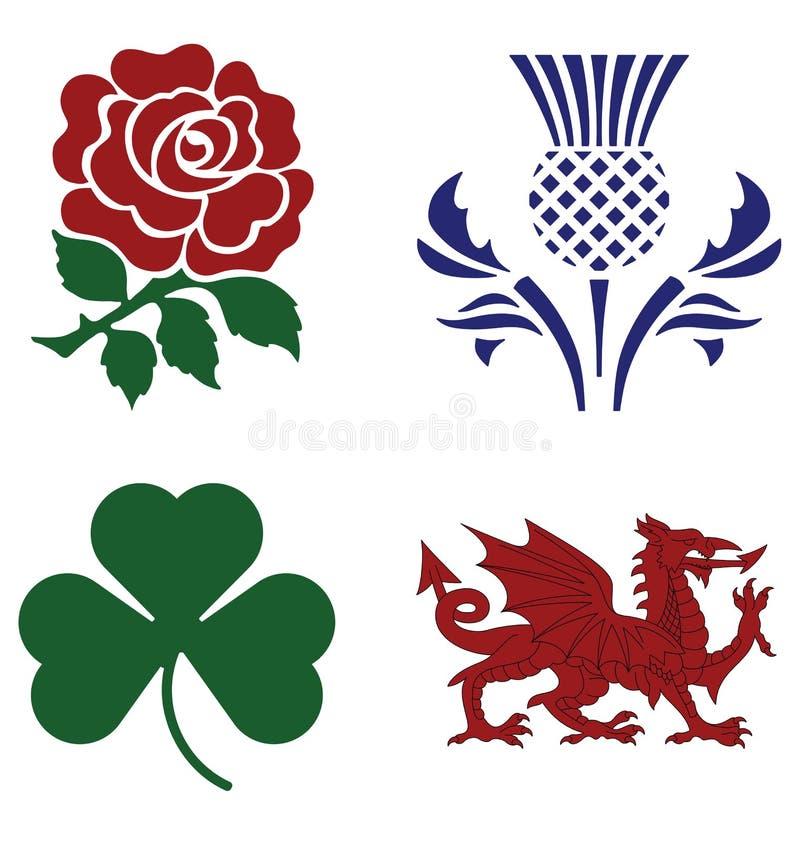 Emblemas nacionais ilustração royalty free