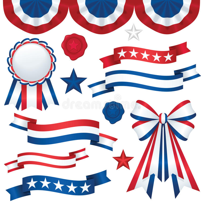Emblemas patrióticos ilustração do vetor