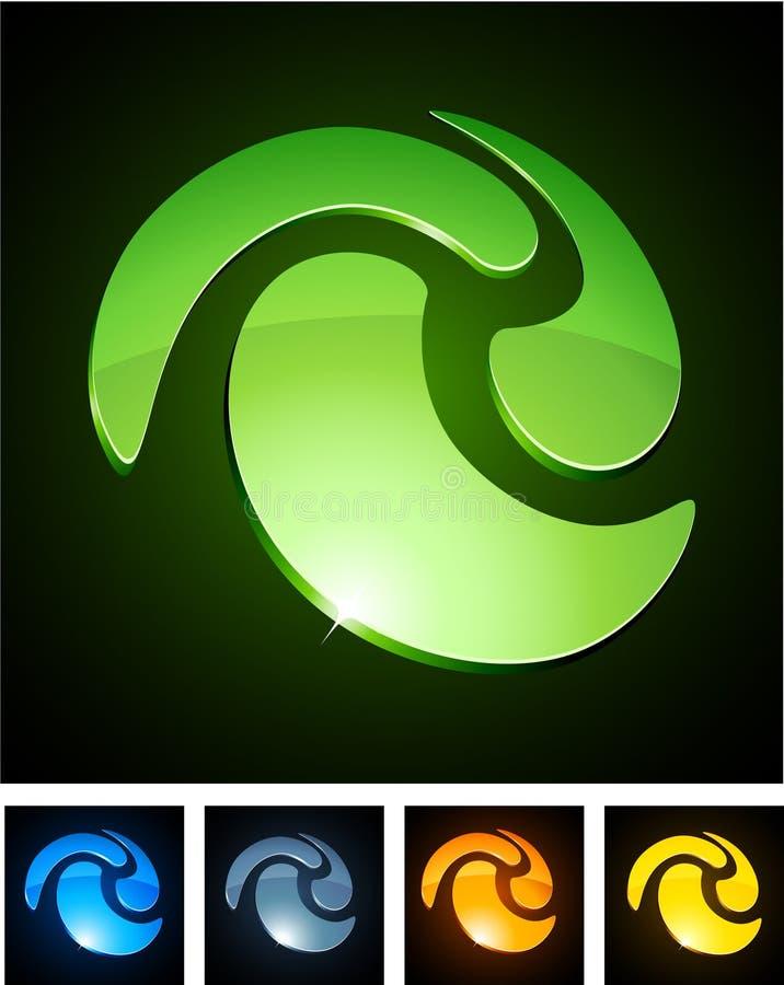 Emblemas vibrantes da cor. ilustração do vetor