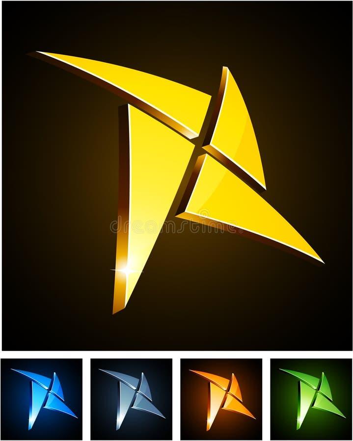 Emblemas vibrantes da estrela da cor. ilustração royalty free