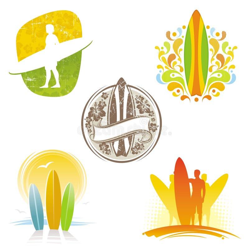 emblematów etykietek target1140_1_ ilustracja wektor