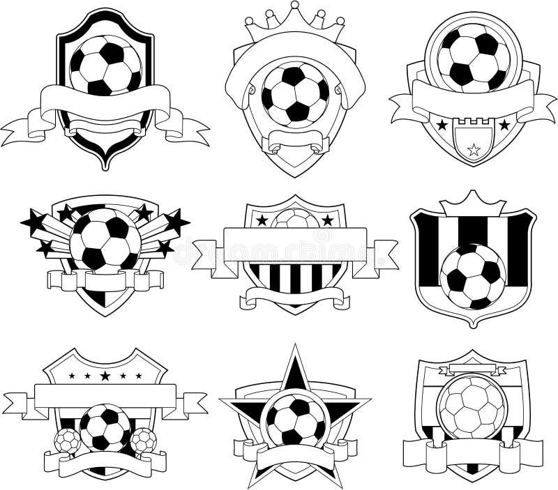emblematów loga piłki nożnej wektor ilustracji