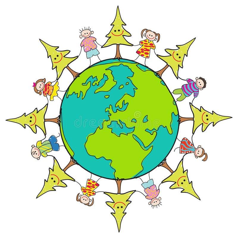 emblemat środowiskowy ilustracja wektor