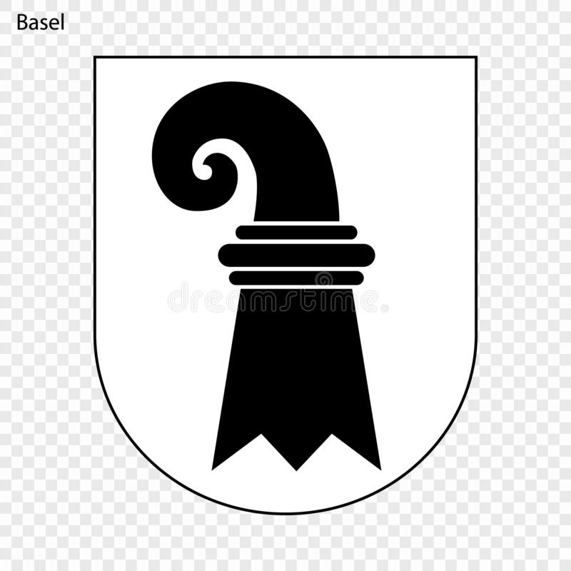 Emblemat Basel ilustracji
