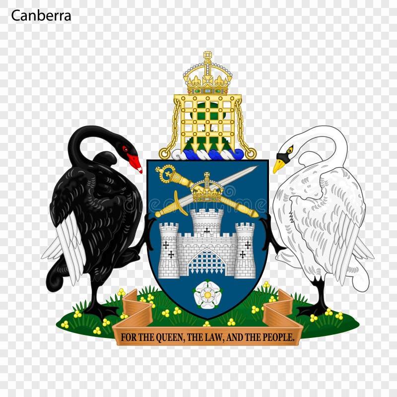 Emblemat Canberra ilustracja wektor