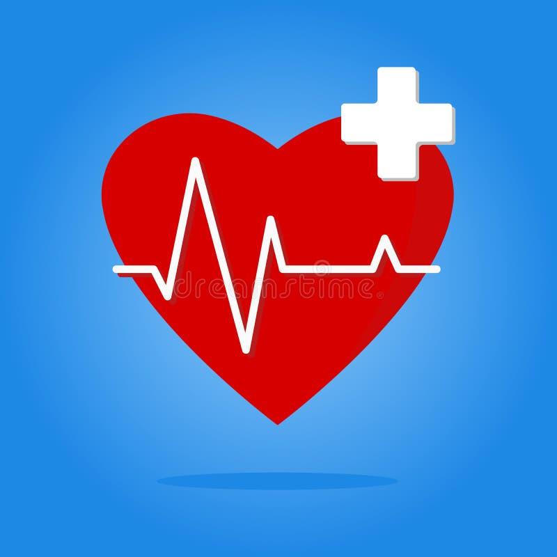 Emblemat dla badania medycznego sercowonaczyniowy dział ilustracja wektor