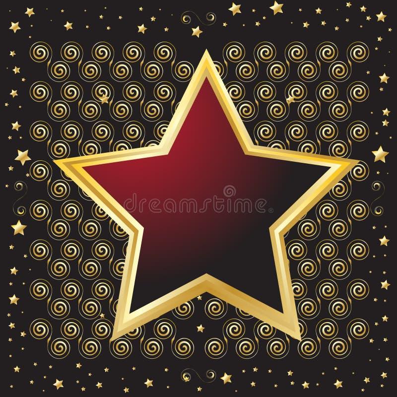 emblemat kształtująca osłony gwiazda ilustracji