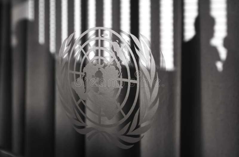 Emblemat Narody Zjednoczone zdjęcia royalty free