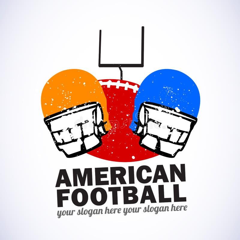 emblemata amerykański futbol royalty ilustracja