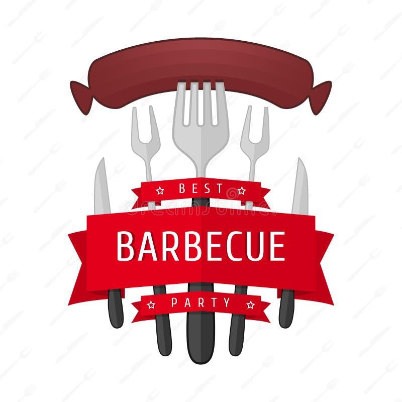 Emblemata BBQ wektor royalty ilustracja