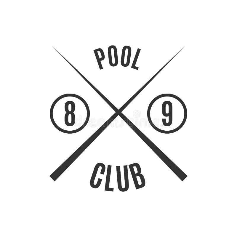 Emblemata bilardowy klub, wektorowa ilustracja royalty ilustracja