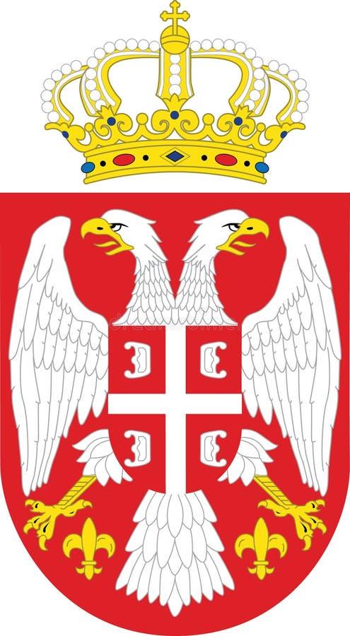 emblemata obywatel Serbia fotografia royalty free