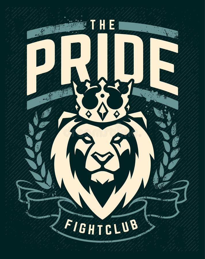 Emblemata projekt z lwem w koronie ilustracji