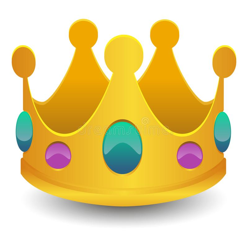King Crown Emoji Vector Art 3D Effect Chat Icon Symbol royalty free illustration