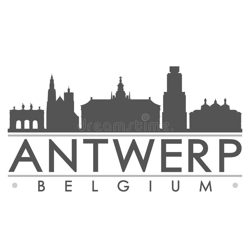Antwerp Belgium Europe Euro Icon Vector Art Design Skyline Flat City Silhouette Editable Template Stock Vector Illustration Of Design Capital 105109984