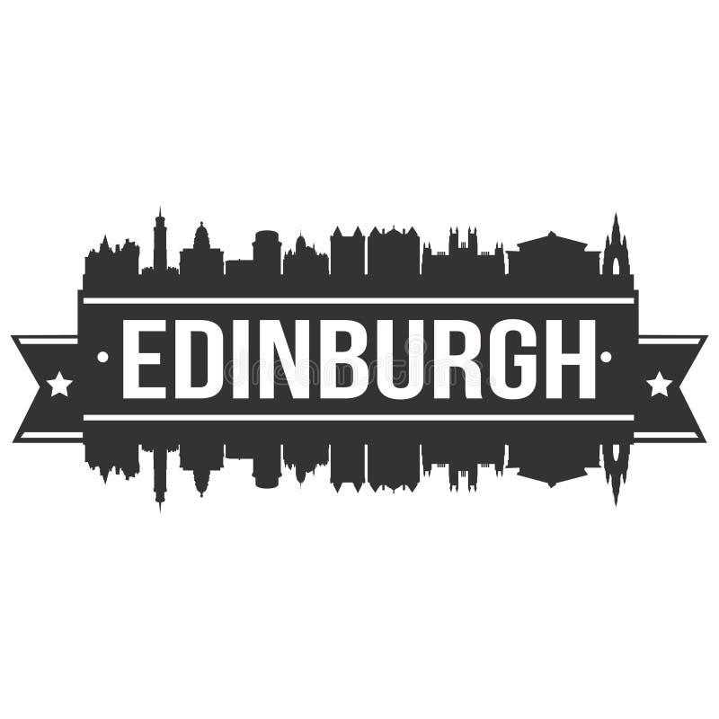 Edinburgh Scotland Europe Euro Icon Vector Art Design Skyline Flat City Silhouette Editable Template royalty free illustration