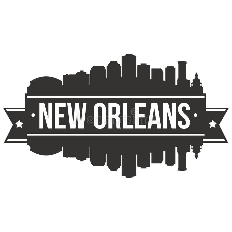 New Orleans Louisiana USA City Icon Vector Art Design