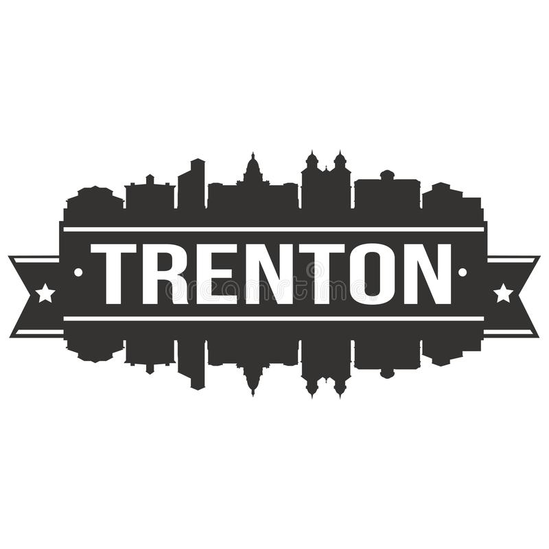 Trenton New Jersey United States Of America USA Icon Vector Art Design Skyline Flat City Silhouette Editable Template vector illustration
