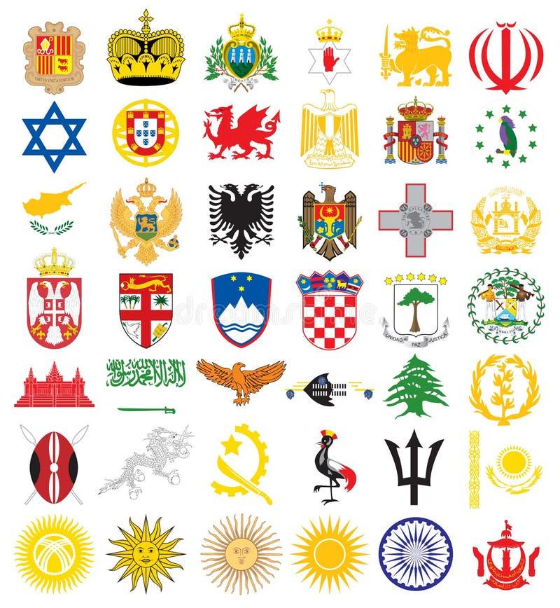 emblematy krajowi royalty ilustracja