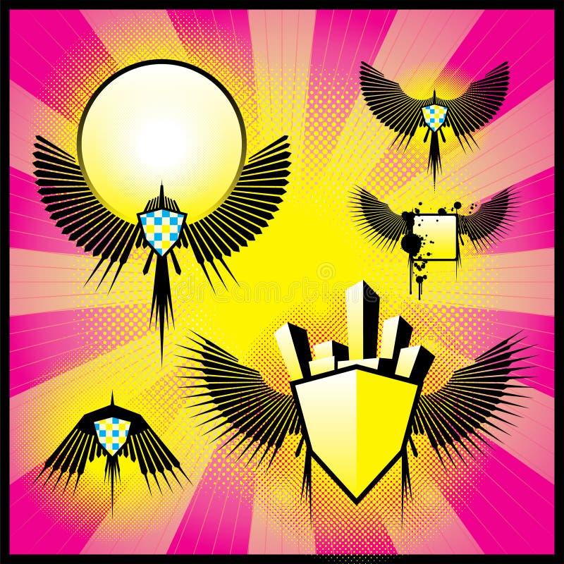 Download Emblematy retro ilustracja wektor. Ilustracja złożonej z retro - 13337654