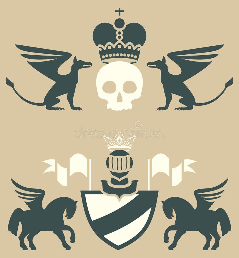Heraldische Embleme vektor abbildung