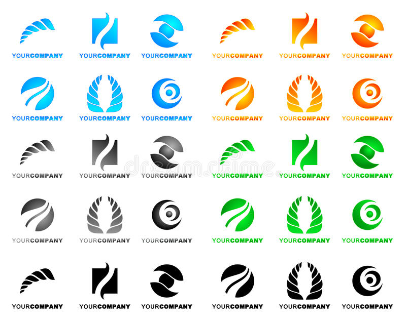 Emblemen royalty-vrije illustratie