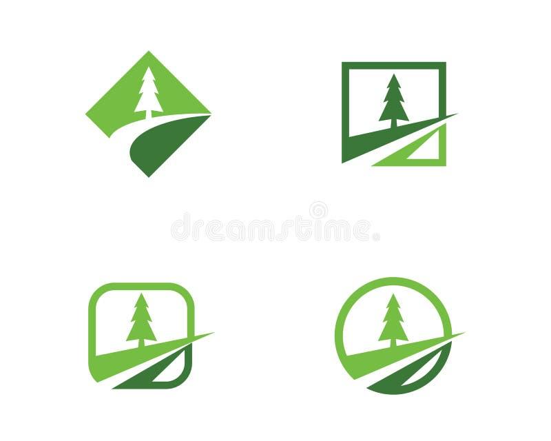 Emblemen van de groene aard van de bladecologie stock illustratie