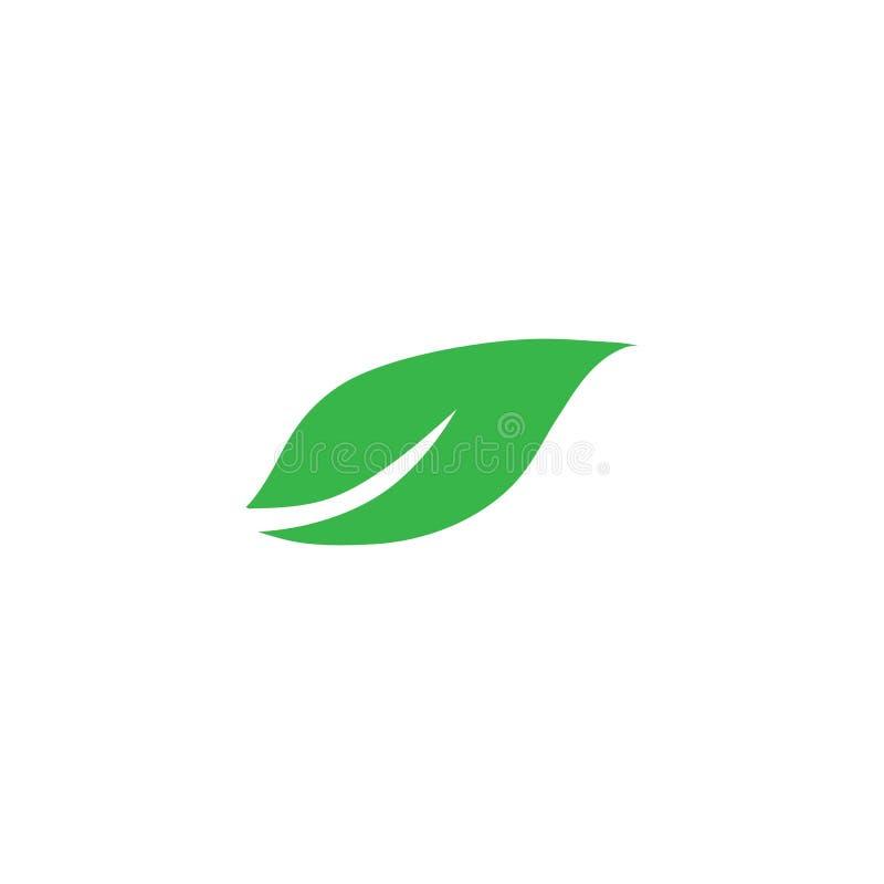 Emblemen van de groene ecologie van het boomblad royalty-vrije illustratie