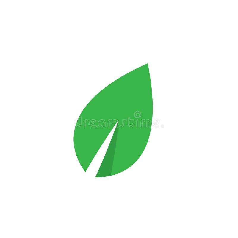 Emblemen van de groene vector van het de aardelement van de bladecologie stock illustratie