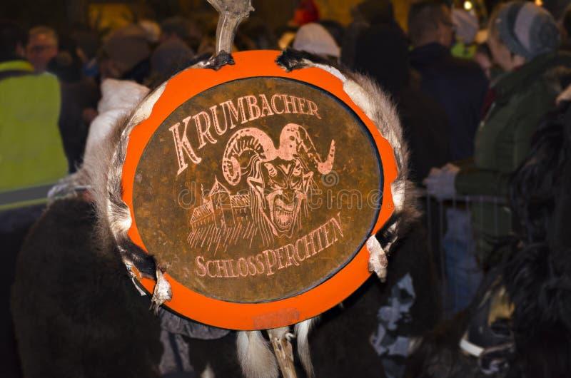 Emblemet av den Krumbacher slotten perchten royaltyfri foto